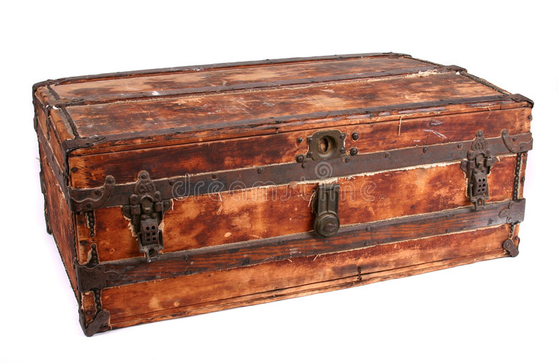 Download Old Trunk stock photo. Image of leisure, wooden, trunk - 115346