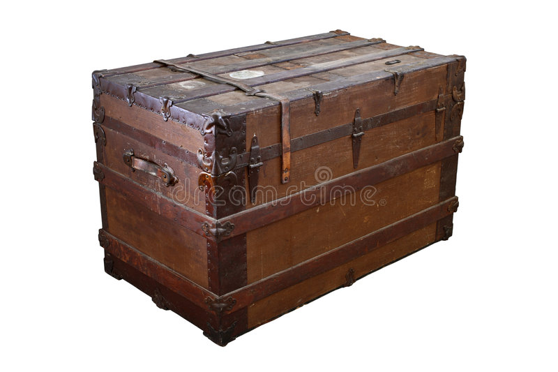 Download Old trunk stock photo. Image of container, antique, damaged - 3213738