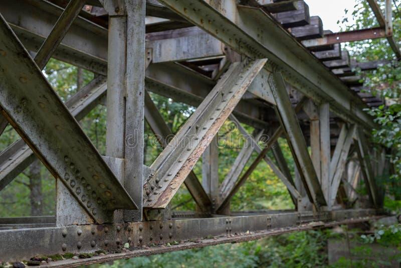 The Old Truss Of The Railway Bridge  Steel Construction