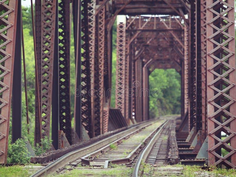 Old Truss Train Bridge. Old antique truss train bridge stock photos