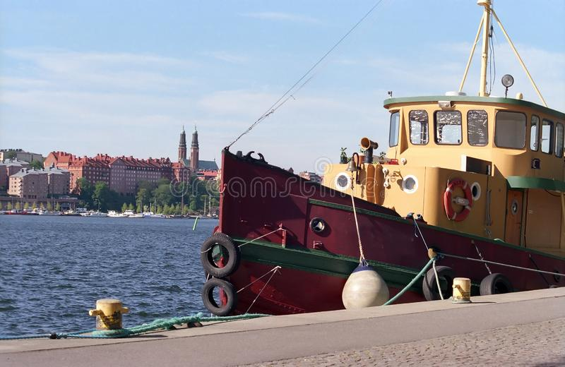 Old Tugboat stock images