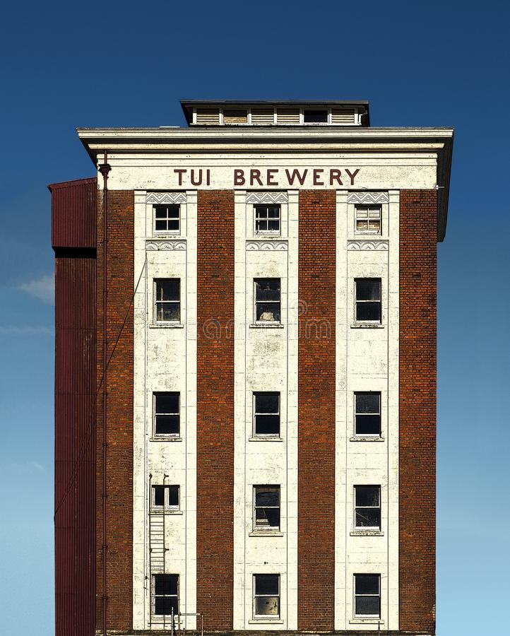 Stylised version of the Old Tui Brewery, Mangatainoka, New Zealand. This is the old Tui Brewery building tower built in the 1930s. Tui Brewery Mangatainoka royalty free stock image