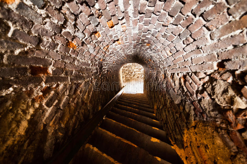 Download Old tunnel stock photo. Image of brick, perspective, fortification - 26019476