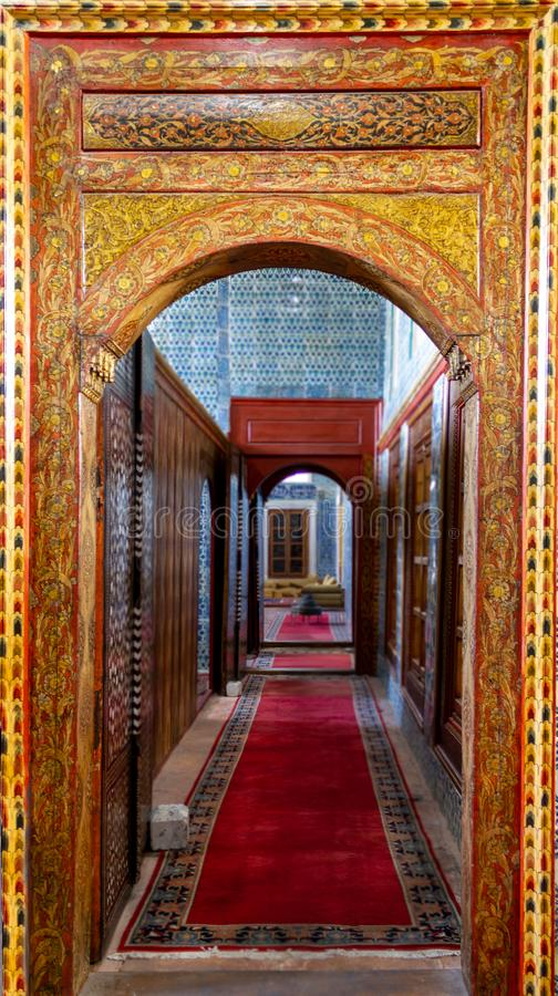 Old Turkish Ottoman house door entrance and corridor stock images