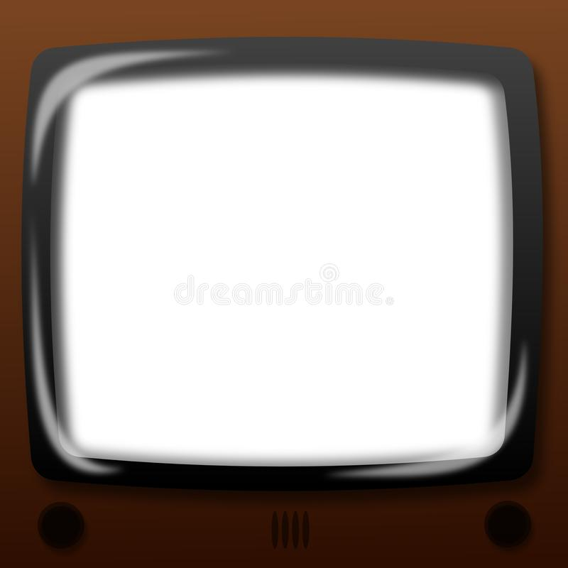Download Old tv stock vector. Illustration of television, cards - 22383699
