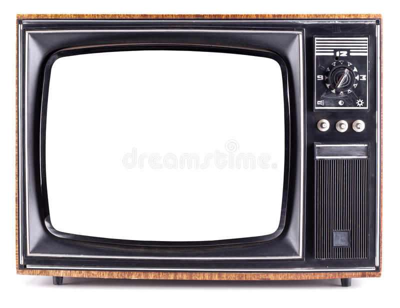 Old TV. The old TV on the isolated white background royalty free stock photos