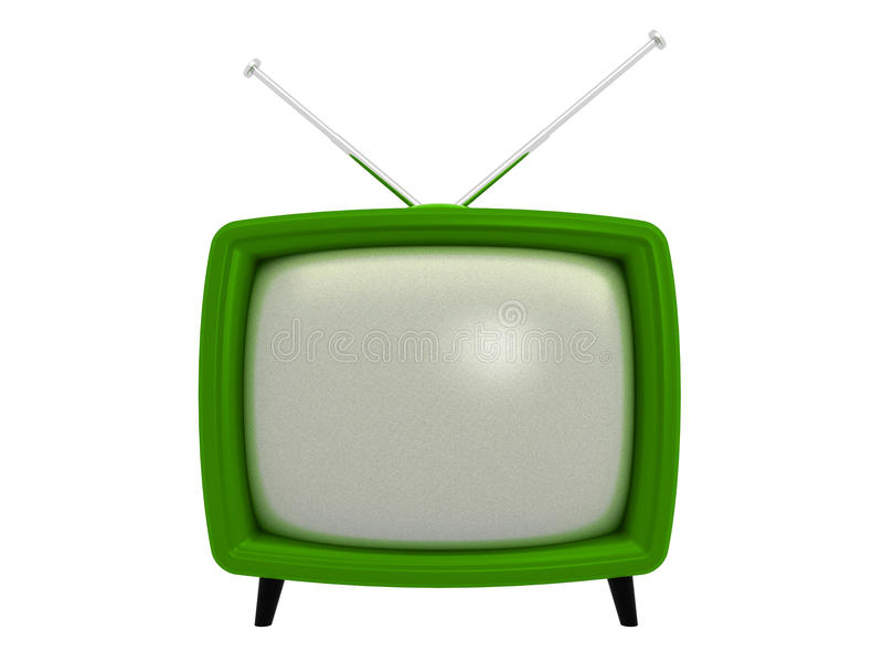 Old TV | 3D Royalty Free Stock Images