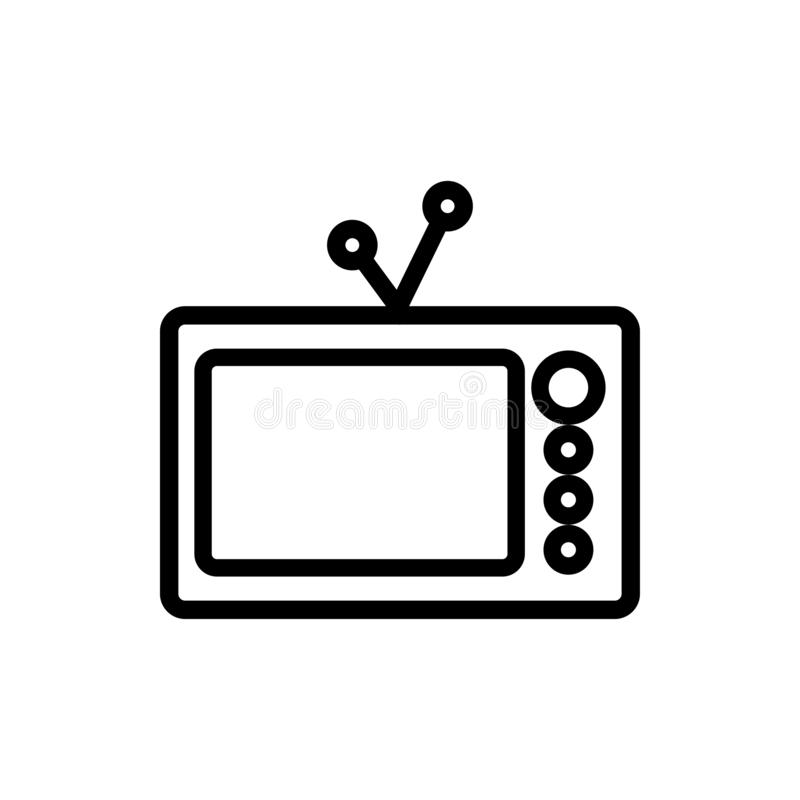 Old tv graphic design template vector royalty free illustration