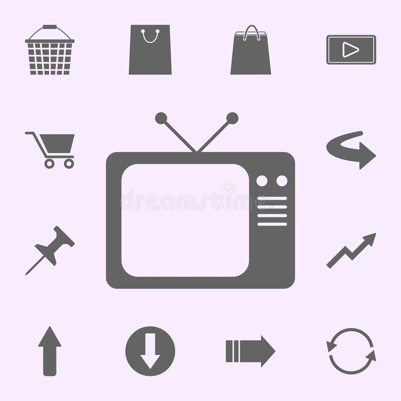 Old TV icon. web icons universal set for web and mobile. On color background stock illustration