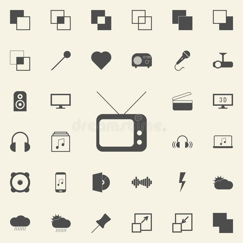Old TV icon. web icons universal set for web and mobile. On colored background vector illustration