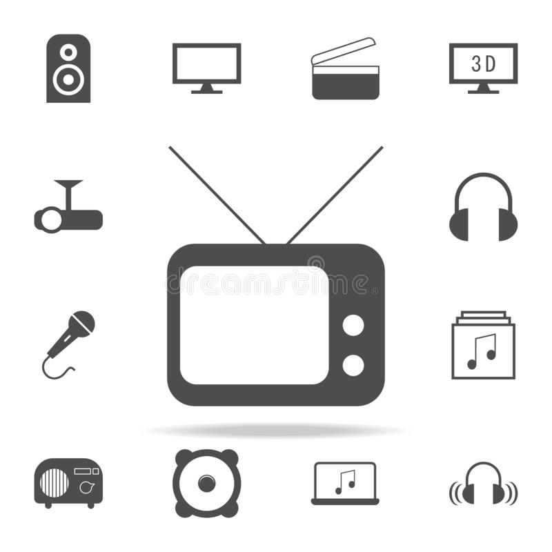 Old TV icon. web icons universal set for web and mobile. On white background vector illustration