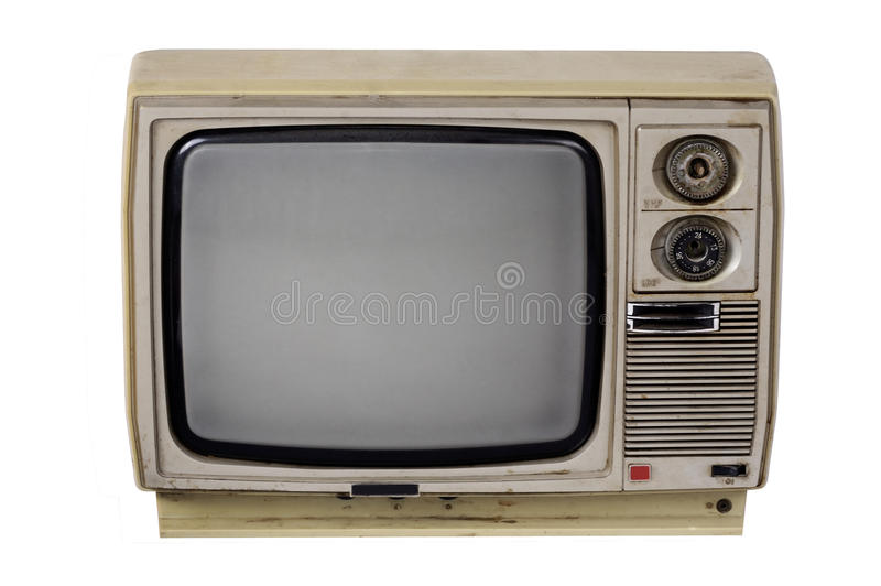 Old TV isolated stock photos