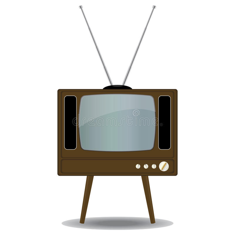 Old TV Set. Isolated on white background royalty free illustration