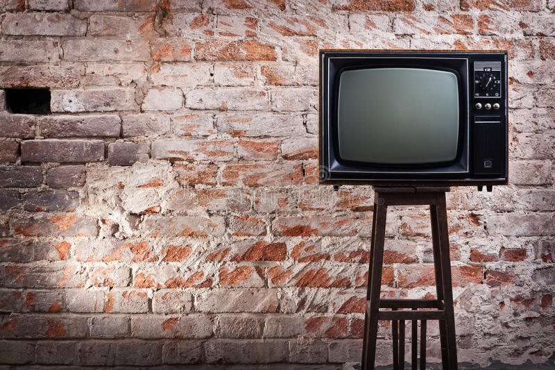 The old TV set royalty free stock images