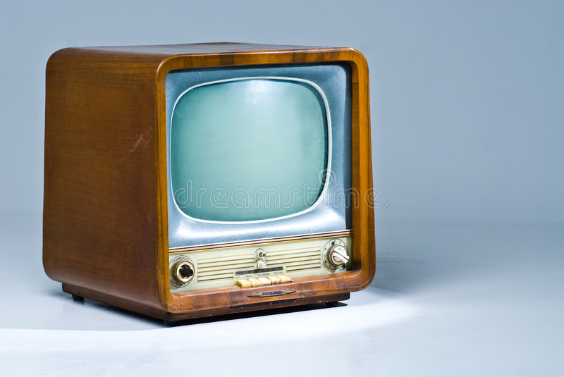 Download Old TV set stock photo. Image of glass, lamp, wooden, fashioned - 5198558