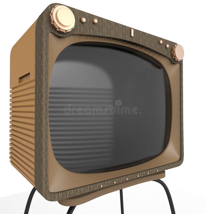 Old tv set close up. Very old tv set is a good picture for your vintage illustration stock illustration