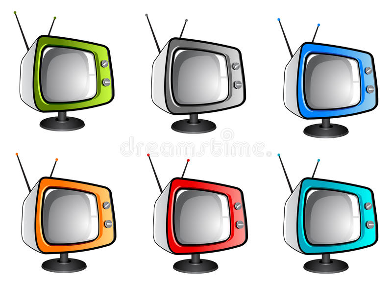 Download Old Tv Television (vector) Stock Photography - Image: 10386262