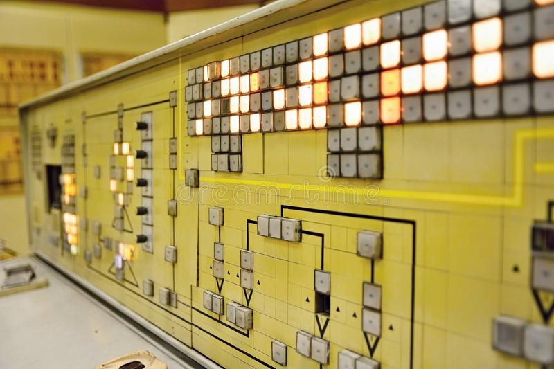 Old Type of Control Panel Closeup stock photography