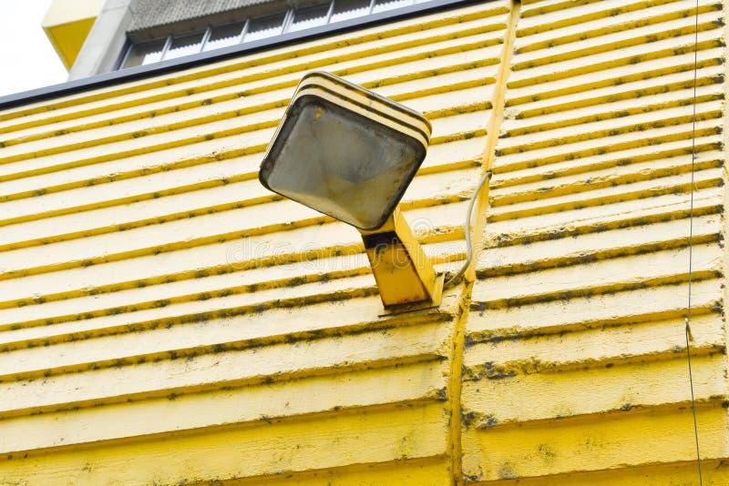 Old type street lamp.  street lamp on yellow background stock image