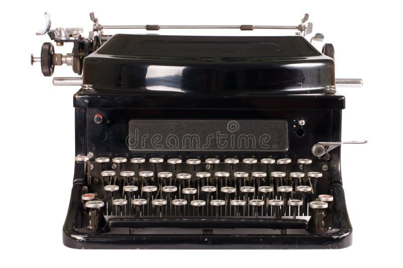 Old typewriter. On white background stock image
