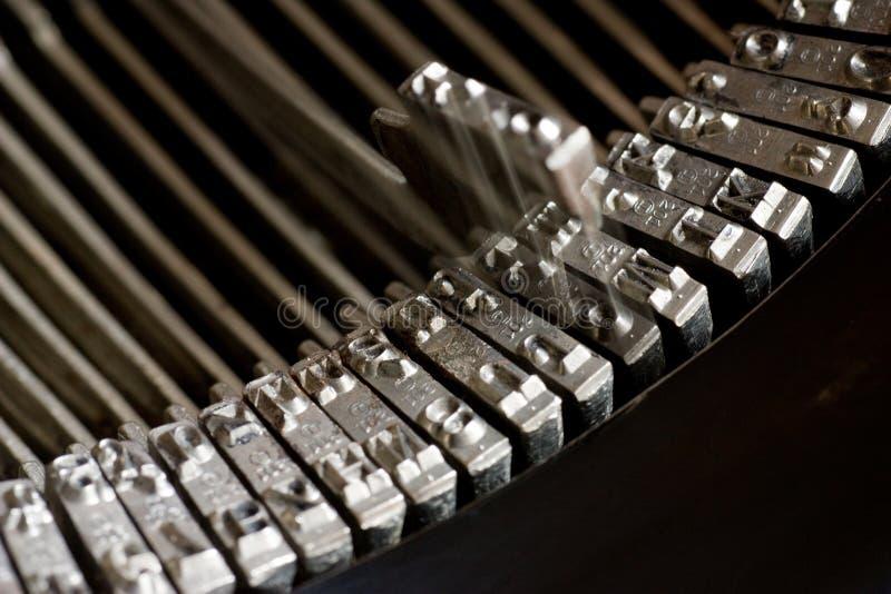 Old typewriter. Closeup of vintage typewriter keys royalty free stock photography