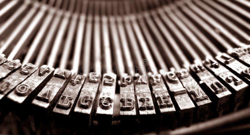 Old Typewriter. Close up of old typewriter stock images