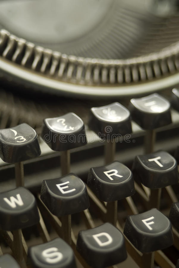 Download Old Typewriter - Bakelite Keys Close-up Stock Photo - Image: 13533888