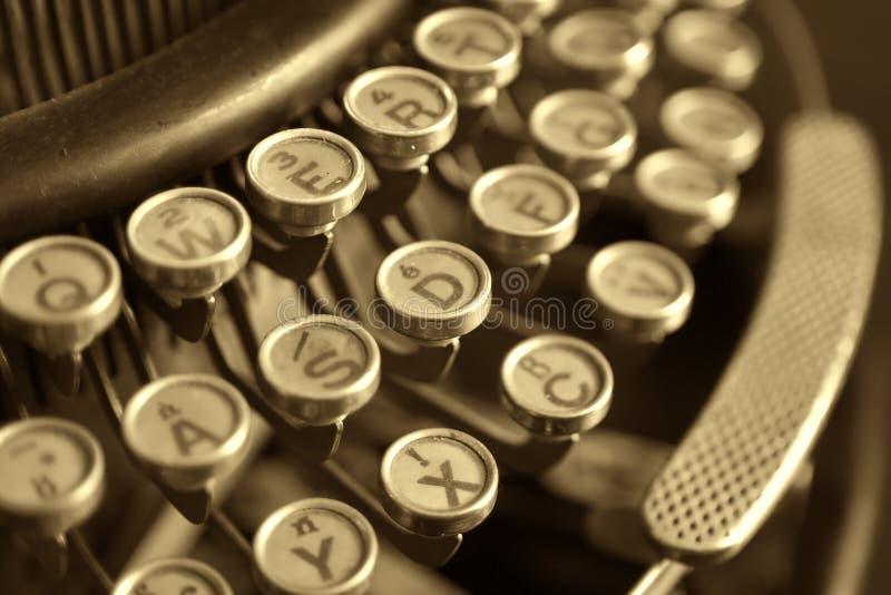 Old typewriter, close-up. Old vintage typewriter, close-up stock photos