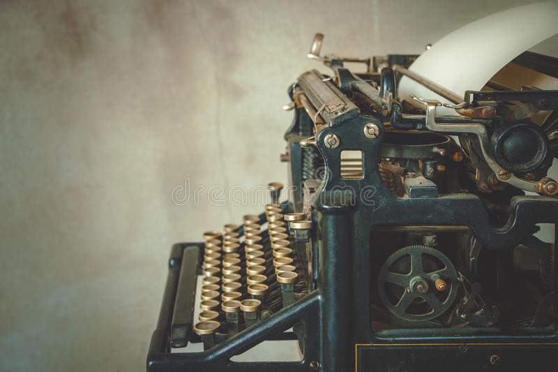 Old typewriter. Close-up of old typewriter stock images