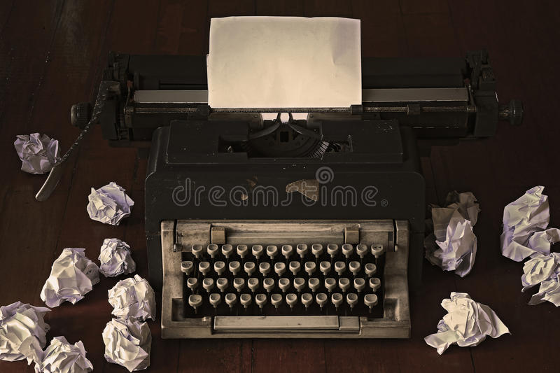 Old typewriter. Concept image with old typewriter stock images