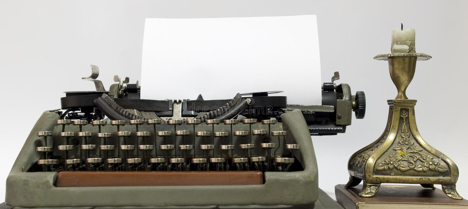 Old typewriter. The typewriter that has been used in the last century stock images