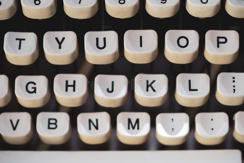 Old typewriter and keys. Old typewriter and old keys stock images