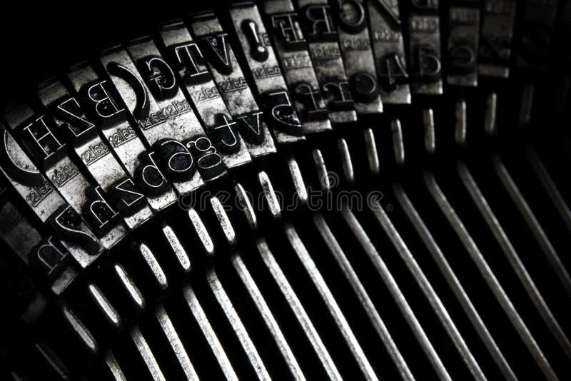 Old Typewriter Keys. A closeup of an old typewriter keys stock photos
