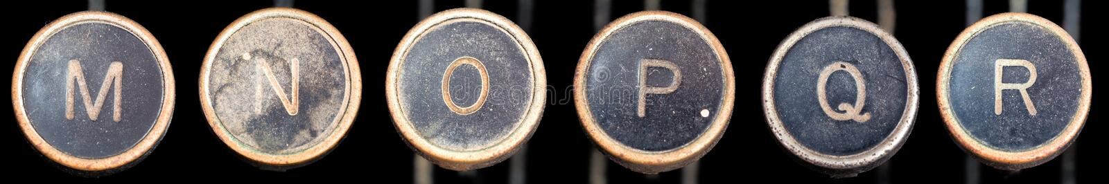 Download Old Typewriter Keys M-R stock image. Image of dirty, letters - 3048737