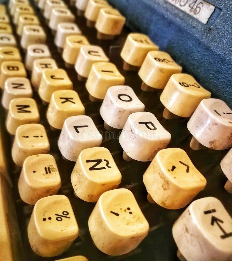 Old typewriter. Letter vintage stock photos