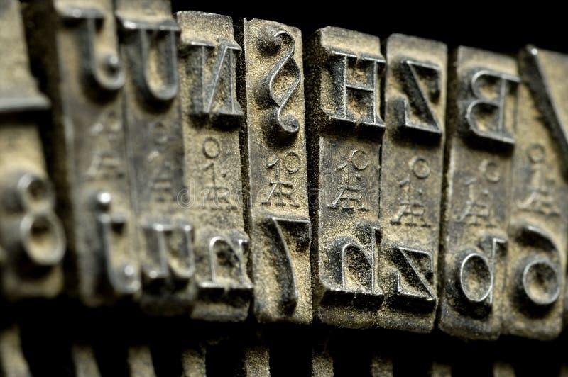 Old typewriter machine close-up stock images