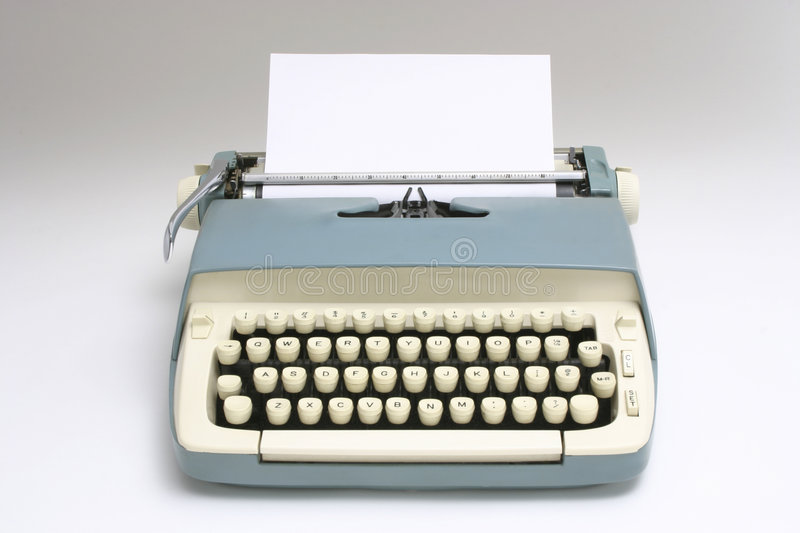 Download Old Typewriter with Paper stock image. Image of white - 2947859