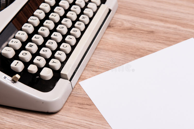 Download Old Typewriter With Slip Of Paper Stock Photo - Image: 83706542