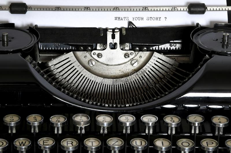 An old typewriter with the text What`s your Stor royalty free stock photo