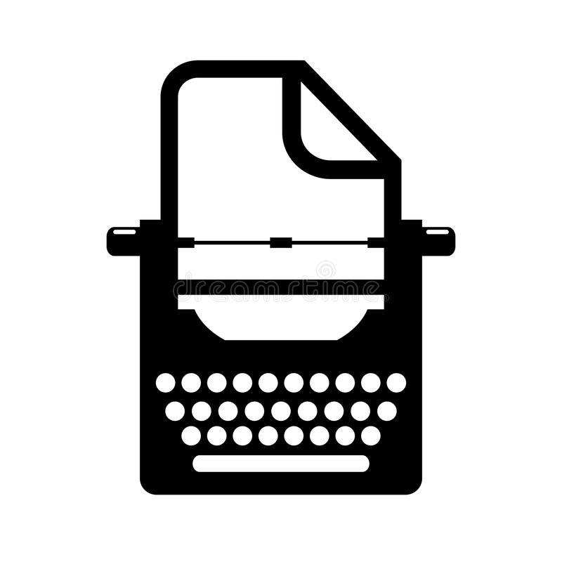 Old typewriter vector icon royalty free illustration