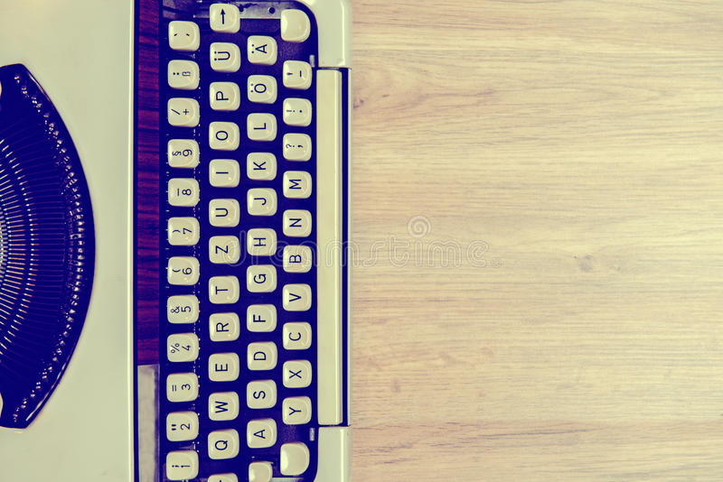 Download Old Typewriter On Wooden Ground Stock Photo - Image: 83705014