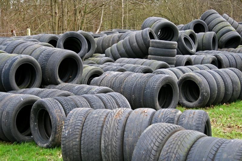 Download Old Tyres Used As Racing Tire Walls Stock Image - Image: 5335699