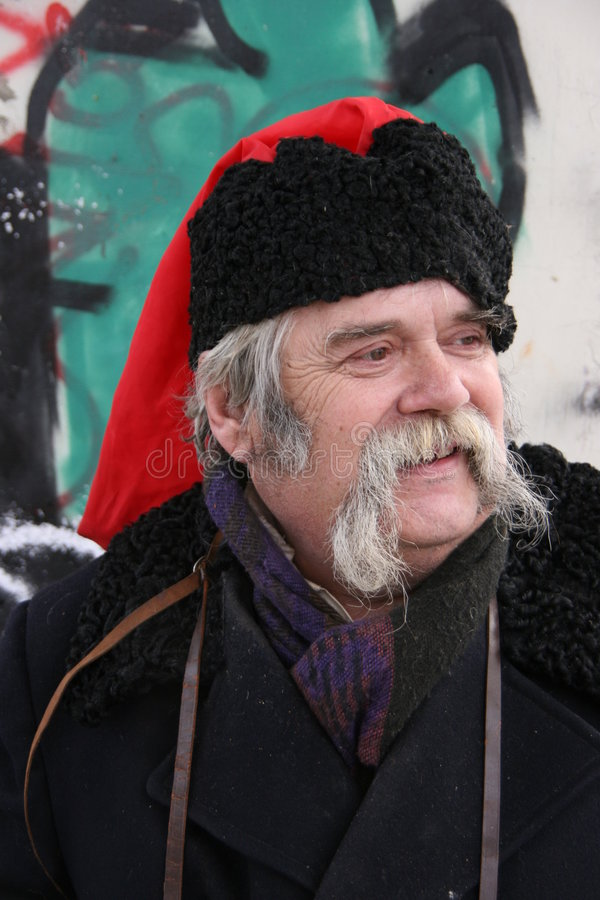 Download Old Ukrainian Cossack With Long Whiskers 1 Stock Image - Image: 7872341