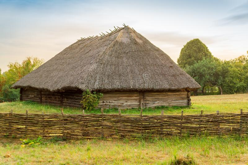 Old Ukrainian house this is hut of the nineteenth century in Village Pirogovo. Old Ukrainian house this is hut of the nineteenth century is located in Village royalty free stock photography
