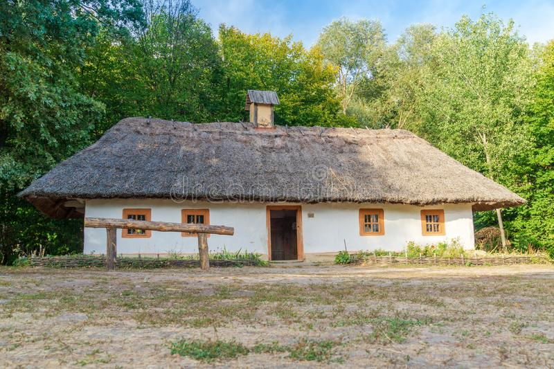 Old Ukrainian house this is hut of the nineteenth century in Village Pirogovo. Old Ukrainian house this is hut of the nineteenth century is located in Village royalty free stock images
