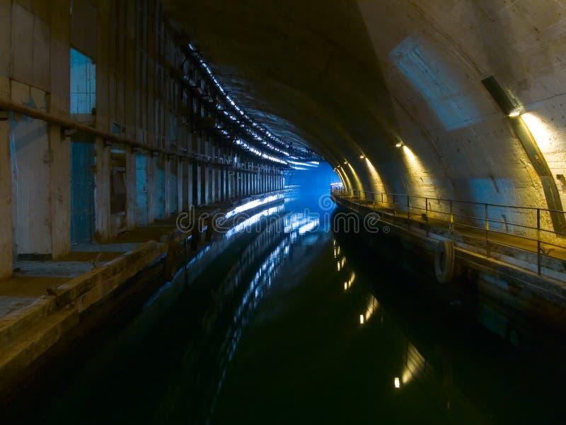 Old underground dockyard stock photography