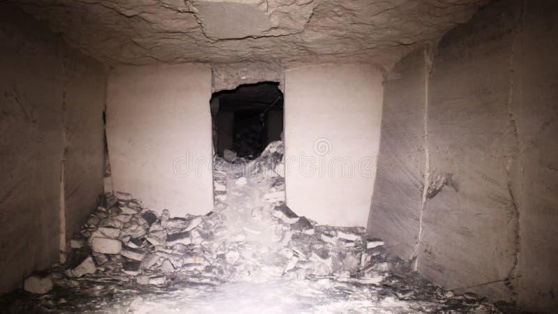 Old underground passage stock photography