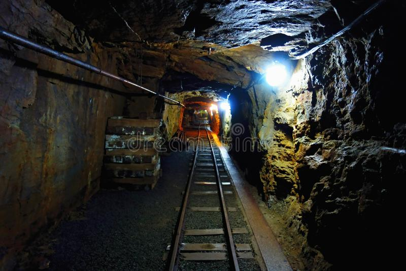 Old Uranium mine stock images