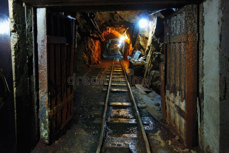 Old Uranium mine royalty free stock photos
