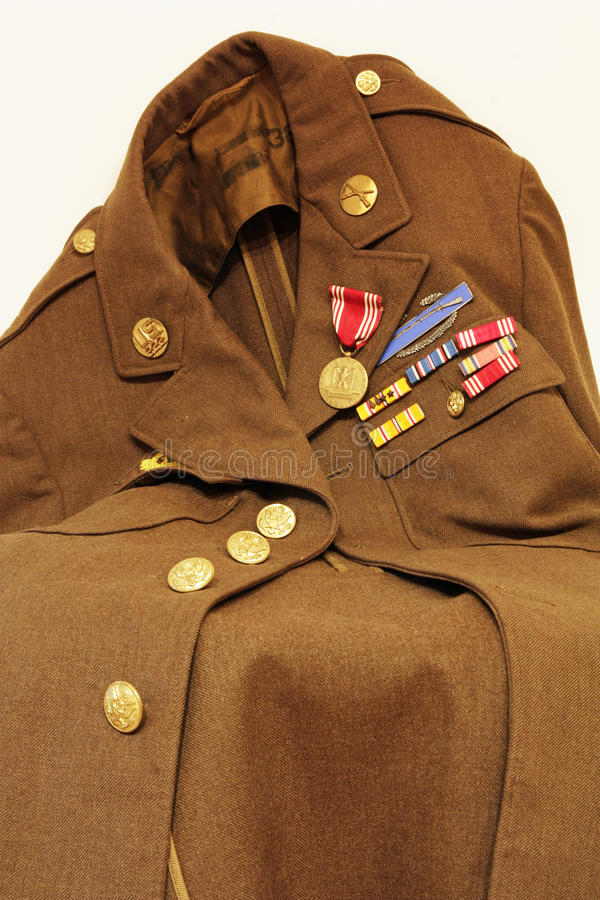 Old US Army Jacket Royalty Free Stock Images
